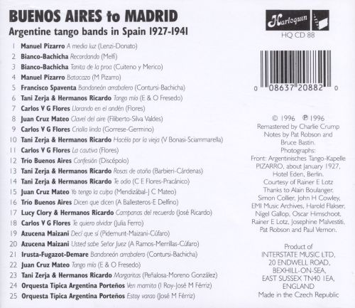 Buenos Aires Madrid Argentine Tango Bands