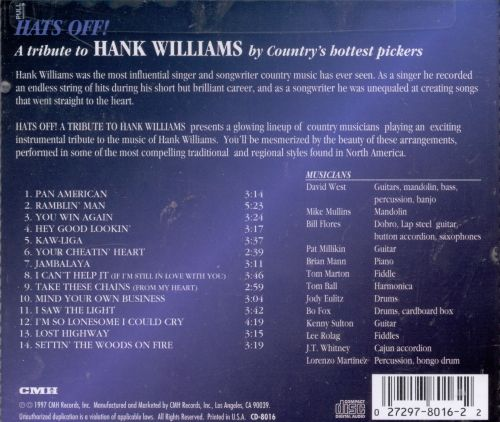 Hats Off: A Tribute to Hank Williams
