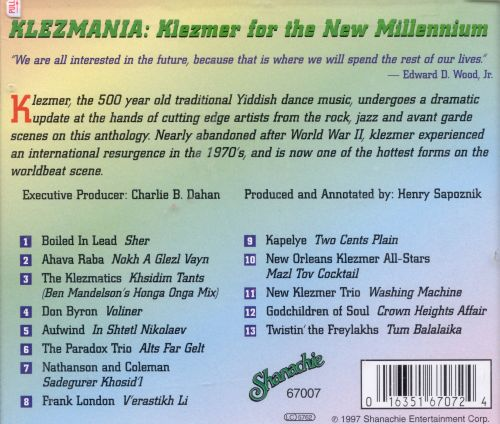 Klezmania: Klezmer for the New Millenium