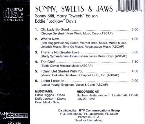 Sonny Sweets and Jaws: Live at Bubbas