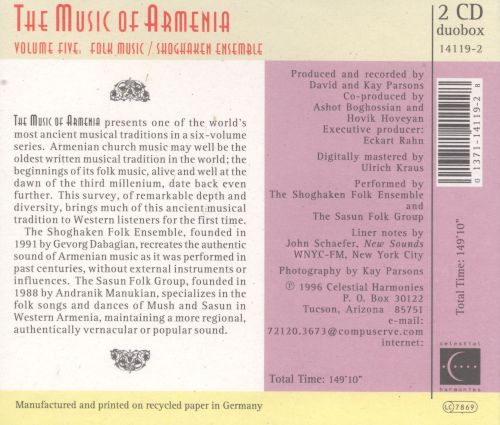 Music of Armenia, Vol. 5:  Composers