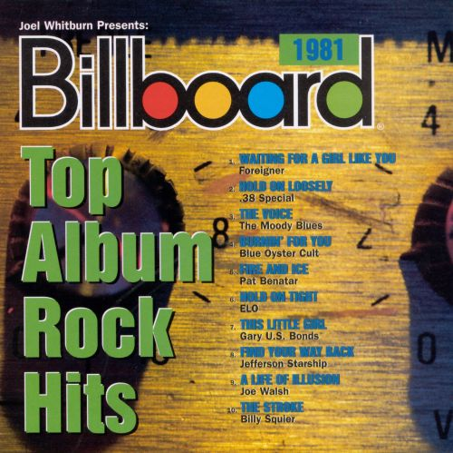 Billboard Top Album Rock Hits 1981