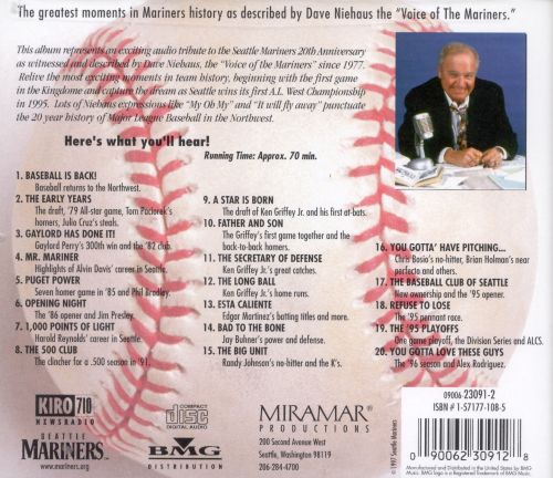 Seattle Mariners 20th Anniversary With Dave Niehaus