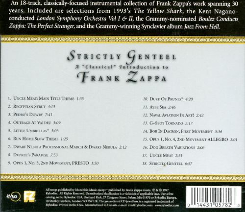 Strictly Genteel: A Classical Introduction to Frank Zappa