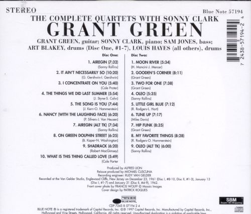 The Complete Quartets with Sonny Clark
