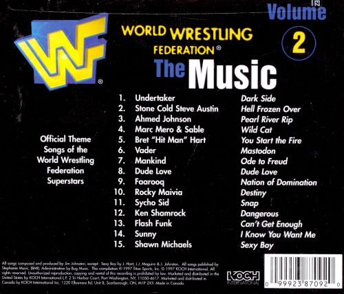 World Wrestling Federation: The Music, Vol. 2