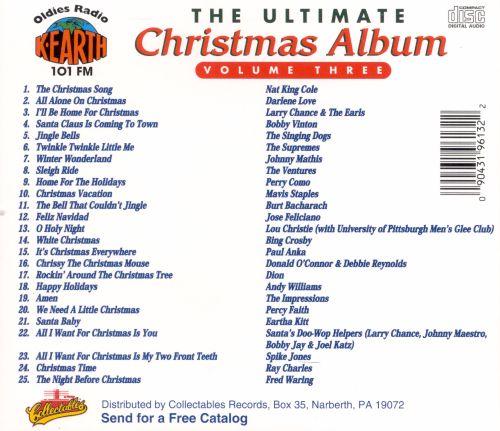 ultimate christmas song list