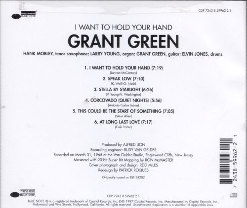 I Want to Hold Your Hand - Grant Green | Songs, Reviews, Credits ...