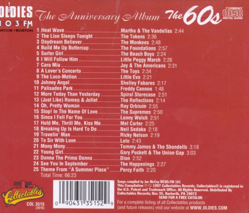 WODS Oldies 103 Boston, Vol. 2: The 60's - Tenth Anniversary Edition