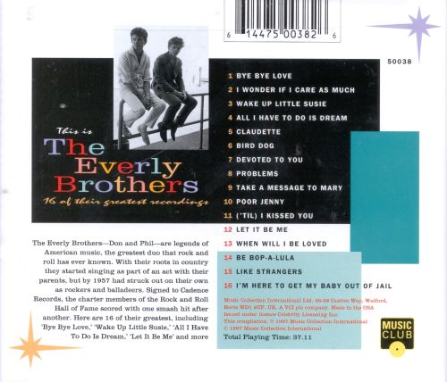 This Is the Everly Brothers: 16 of Their Greatest Hits