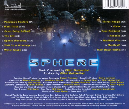 Sphere [Original Motion Picture Soundtrack]