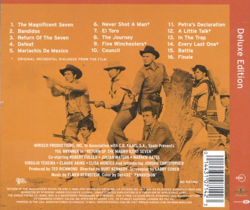 return of the magnificent seven elmer bernstein songs reviews credits allmusic. Black Bedroom Furniture Sets. Home Design Ideas