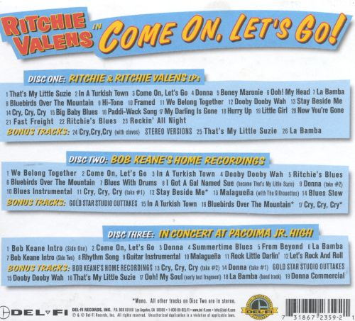Well-liked Come On, Let's Go - Ritchie Valens | Songs, Reviews, Credits  SM94