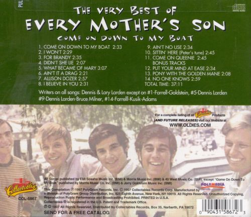 The Very Best of Every Mother's Son: Come on Down to My Boat