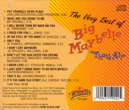 That's All: The Very Best of Big Maybelle