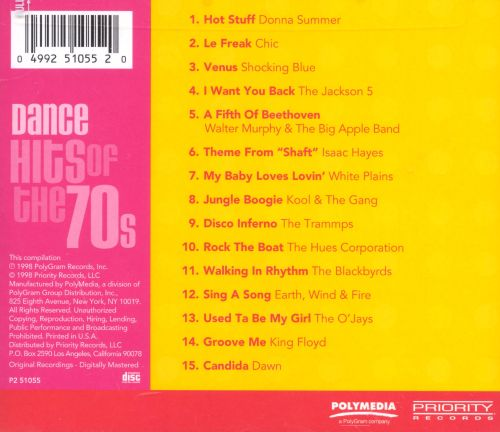 Chart Toppers Dance Hits Of The 70s