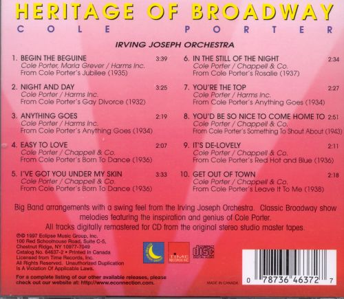 Heritage of Broadway: Cole Porter