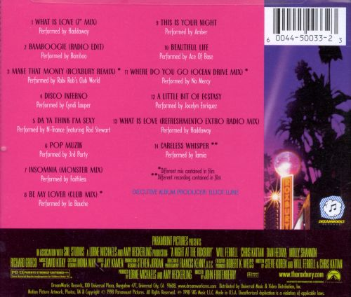 A Night At The Roxbury Soundtrack Original Soundtrack Songs
