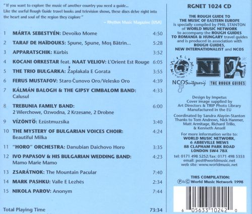 Rough Guide to the Music of Eastern Europe