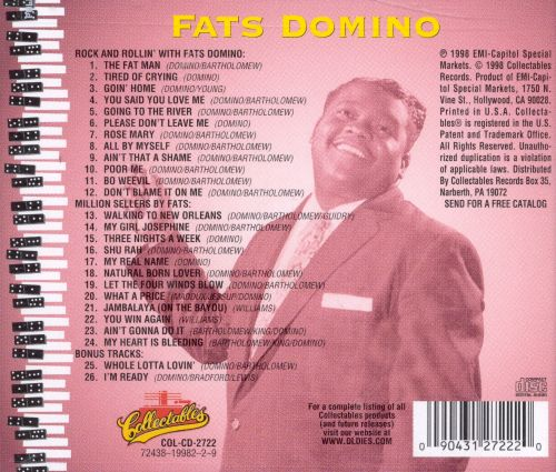 Rock and Rollin' with Fats Domino/Million Sellers By Fats
