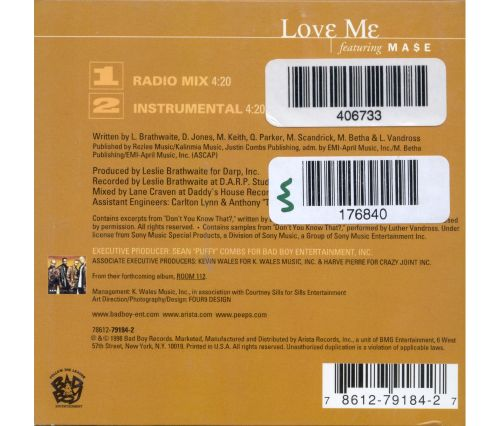 Love Me [CD5/Cassette Single]