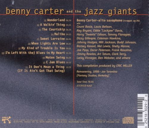 Benny Carter and the Jazz Giants