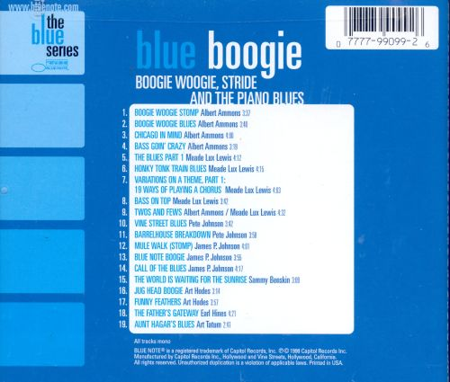Blue Boogie: Boogie Woogie Stride & the Piano Blues