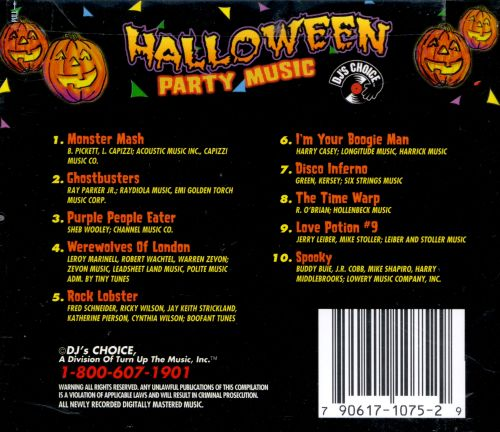 Halloween Party Music [Turn Up the Music 1998] - DJ's Choice ...