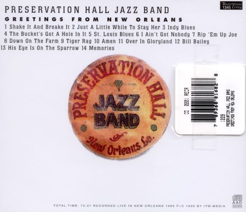 Greetings from new orleans preservation hall jazz band songs greetings from new orleans greetings from new orleans m4hsunfo