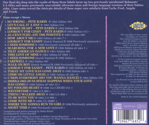 The Laurie, Sabina & United Artists Sides, Vol. 2