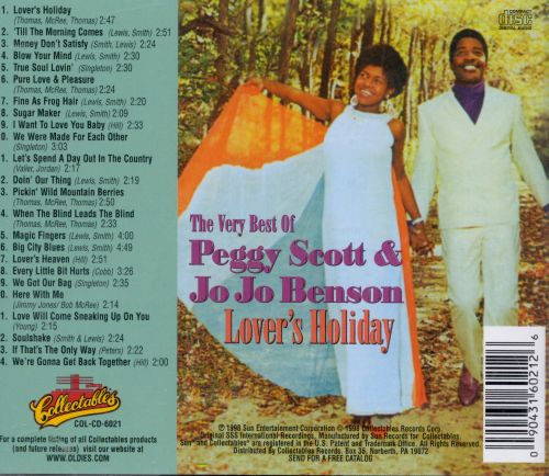 Lover's Holiday: The Very Best of Peggy Scott & Jo Jo Benson
