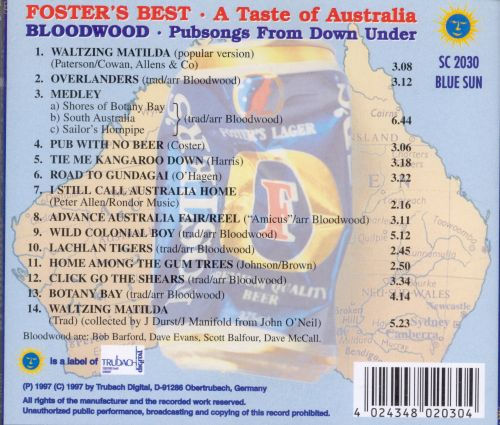Bloodwind: Pubsongs from Down Under