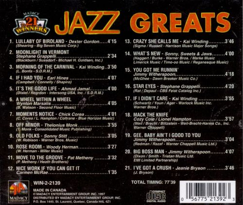 The Best of Jazz Greats [Excelsior]