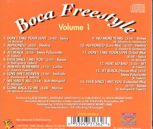 Boca Freestyle, Vol. 1: Don't Take Your Love