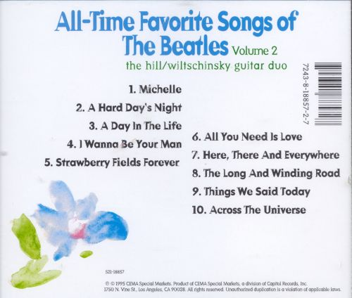 All-Time Favorite Songs of the Beatles, Vol. 2
