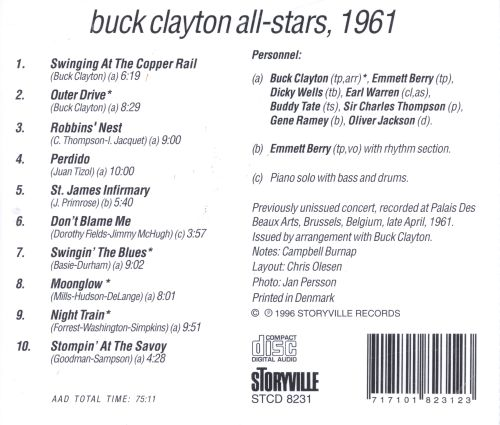Buck Clayton All-Stars, 1961