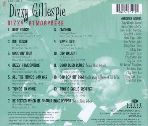Dizzy Atmosphere [Drive Archive]