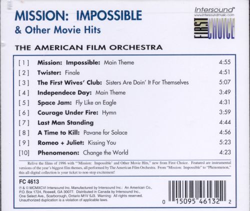 Mission: Impossible and Other Movie Hits