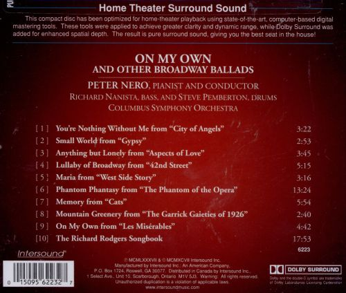 On My Own & Other Broadway Ballads
