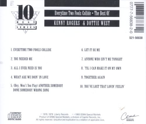 Every Time Two Fools Collide: The Best of Kenny Rogers & Dottie West