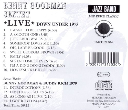 Live Down Under 1973 with Zoot Sims