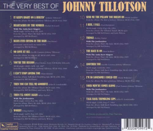 The Very Best of Johnny Tillotson: The MGM Years