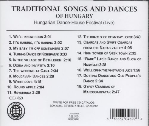 Traditional Songs & Dances of Hungary [Legacy]