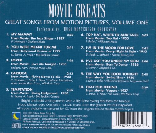 Great Songs from Motion Pictures, Vol. 1