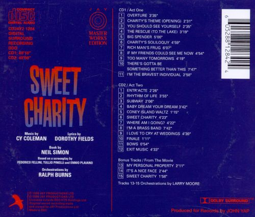 Sweet Charity [1995 Studio Cast]
