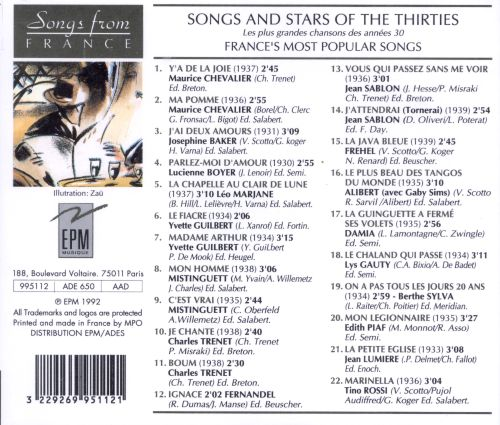 Songs & Stars of the 30s