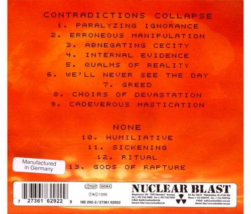 Contradictions Collapse/None