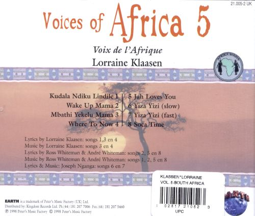 Voices of Africa, Vol. 5: South Africa