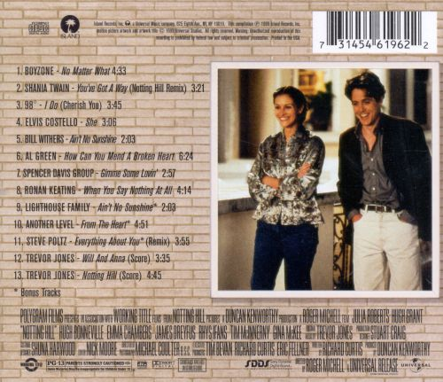 notting hill original soundtrack songs reviews credits allmusic. Black Bedroom Furniture Sets. Home Design Ideas