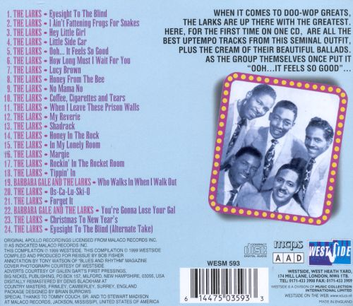 Up With the Larks: The Uptempo Apollo Recordings 1951-1955